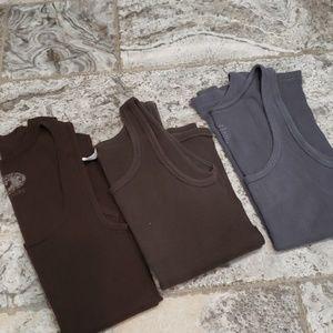 Bundle of 3 J Crew Favorite Tanks - Brown and Gray